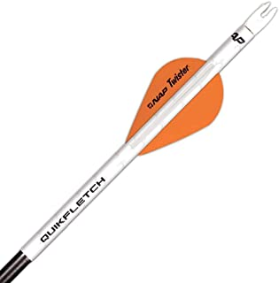 New Archery Products 60-637 6-Pack 2-Inch Quickfletch Twister Vanes (White/Orange)