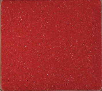Gekleurd zand, decoratief zand gekleurd ca. 0,5 mm. 1 kg in rood -01.