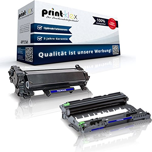 Print-Klex Toner mit Trommel kompatibel für Brother TN2420 & DR2400 MFC-L 2710 DN MFC-L 2710 DW MFC-L 2712 DN MFC-L 2712 DW Schwarz Farblos - Office Print Serie