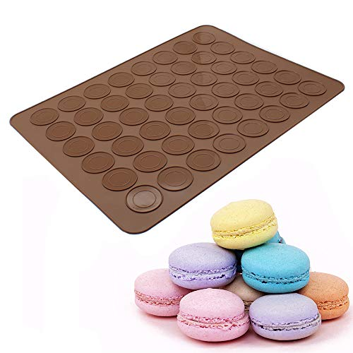 Macaron Silicone Baking Mat, Macaron Mat Almond muffin chocolate chip cookies 48 Capacity