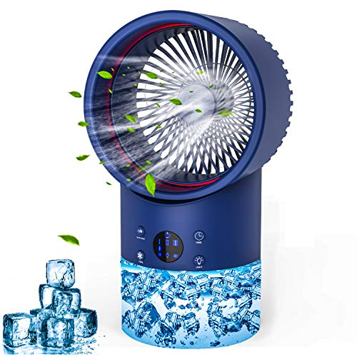 Portable Air Conditioner Fan, Personal Air Cooler Mini with Timing, 7 Colors...
