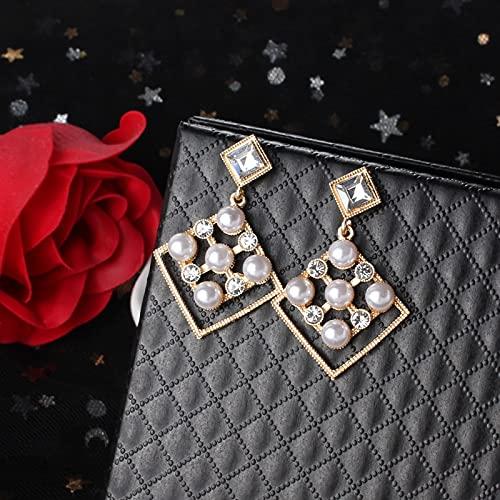 DJMJHG Pendientes de Perlas de Moda para Mujer, Personalidad de Metal, geometría de Gota de Agua, Tipos exagerados, Pendientes de Gota, joyería