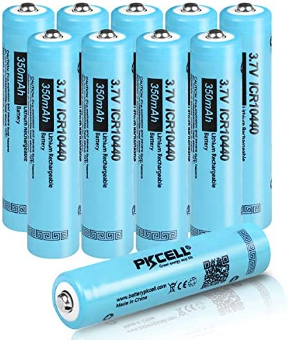 ICR10440 3 7V 350mAh Lithium Ion Rechargeable Battery with Button Top 10pcs product image