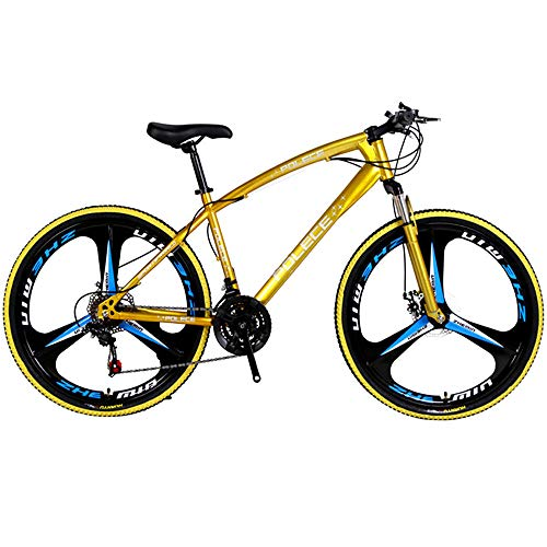 Txyy 26 Inch Mountain Bike with Suspension Fork/Disc Brake, 21 Speeds Shimano Drivetrain, Free Kickstand Included,Gold