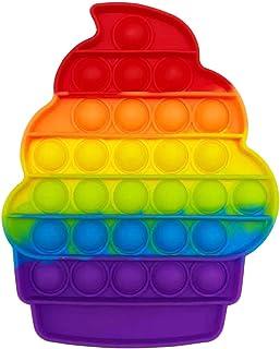 CRAZYCHIC - Pop It Anti Stress - Popit Push Bubble Fidget Toys - Jouet Jeux Enfant Pas Cher - Poppit Antistress Multicolor...