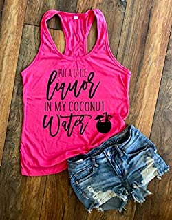 Thomas Rhett Concert Shirt, Put A Little Liquor in my Coconut Water, Country Music Tank, Tank Top Women Racerback