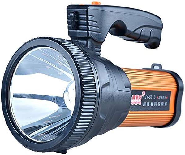 Forte lumière batterie Searchlumière portable Super Bright pour camping de chasse longue portée lampe de poche