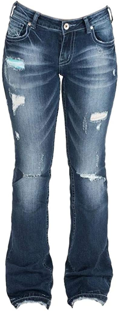 Cowgirl Tuff Western Jeans Womens Let Ranking TOP2 It JL Be Dark Trouser Wash 4 years warranty