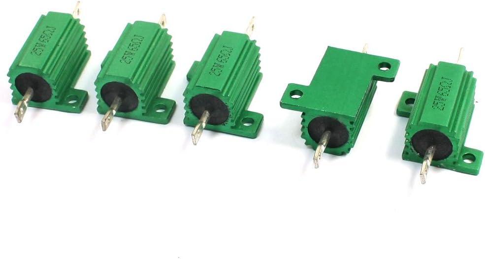 Aexit 5Pcs 65 Variable Resistors Ohm Max 85% OFF 5% Aluminium 25W Very popular Heats Clad