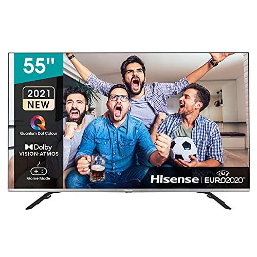 Hisense 55E76GQ QLED 2021 Gaming Series, 55 pulgadas 4K UHD Dolby Vision HDR Smart TV con Youtube, Netflix, Freeview Play y Alexa Built-in, HDMI 2.1, Bluetooth, certificación TÜV
