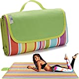 SWARG Picnic Blanket Extra Large Big Beach Outdoor Blanket Waterproof Sand Free Oversized Camping...