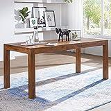 KADIMA DESIGN Esstisch Wood Massiv 140 x 80 cm Massivholz K?chentisch Esszimmer Tisch,