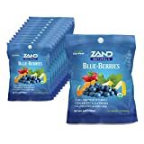Zand Organic Blue-Berries HerbaLozenge Cough Drops | Zinc, Elderberry and Herbs for Soothing Immune Support (12 Bags, 18 Lozenges)