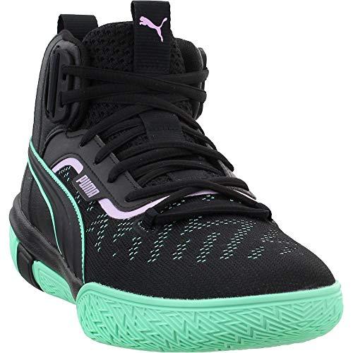 PUMA Mens Legacy Dark Mode Basketball Casual Shoes, Black, 14