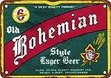 SIGNCHAT Bohemio Reproducció Cerveza - Letrero metálico (20,3 x 30,5 cm)