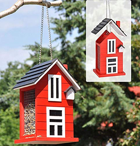 Vogelfutterhaus Holz rot - 2