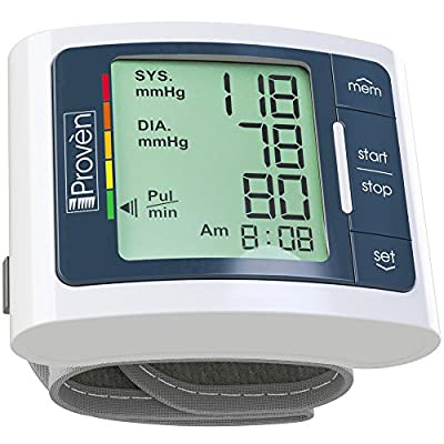 Digital Automatic Blood Pressure Monitor Wrist - Large Screen Display - Clinically Accurate & Fast Reading - FDA Approved - BPM-337 by iProven