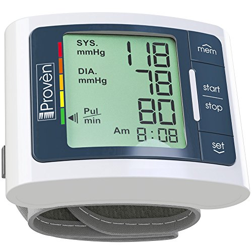 Digital Automatic Blood Pressure Monitor Wrist - Large Screen - Comfortable Cuff & Fast Reading machine - FDA Approved BP Monitors...