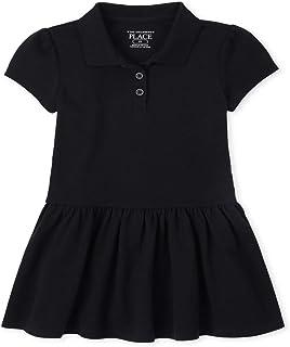 فستان بولو للفتيات الصغار الموحد بكشكشة من البيكيه فستان بولو موحد بكشكشة من البيكيه