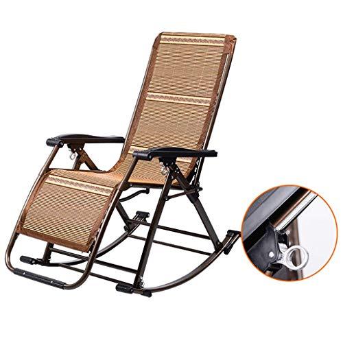 Outdoor-Schaukelstühle für Erwachsene Klappstühle Garden Sun Lounger Liegestühle Klappbare Liegestühle Max.250kg