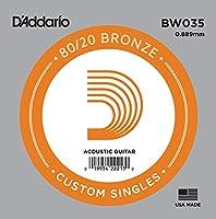 D'Addario ダダリオ アコースティックギター用バラ弦 80/20ブロンズ .035 BW035 【国内正規品】