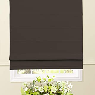 Artdix Roman Shades Blackout Window Shades - Dark Brown 20.5 W x 36L Inches Fabric Custom Solid Lined Roman Shades Blinds for Windows, Doors, French Doors, Kitchen Windows