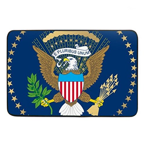 Coolstuffs Presidential Seal Print Soft Doormat Indoor Rubber Mat Machine Washable Non-Woven Fabric 23.6 x15.7 Inch