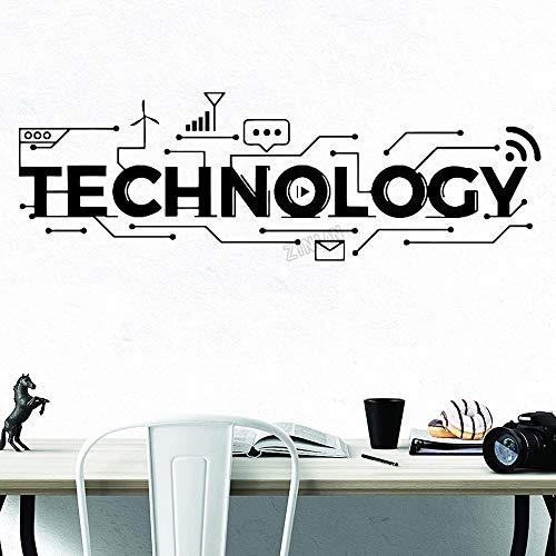 5G Chip Handy-Kommunikation Technologie Wandaufkleber Vinyl Wandtattoo Teenager Schlafzimmer Schule Klassenzimmer Büro Dekoration Kunst Wandplakat
