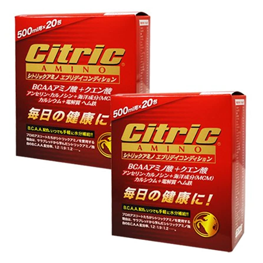 喉が渇いた要求するフィルタシトリックアミノ エブリデイコンディション 120g(6g×20包)×2箱