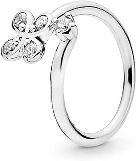 Four-Petal Flower 925 Sterling Silver Ring - 197988CZ