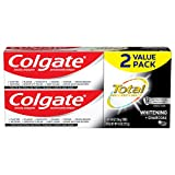 Colgate Total Charcoal Teeth Whitening Toothpaste, 12 Hour Antibacterial Protection, Mint - 4.8 Ounce (2 Pack)