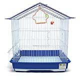 BPS Jaula para Pájaro Tamaño XL para Pajarera Periquito Canarios con Comedero Bebedero Saltado Columpio para Descanso Color al Azar 43x30.5x48 cm BPS-1281