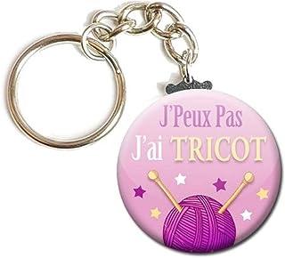 Porte Clés Chaînette 3,8 centimètres j' peux pas j' ai Tricot Idée Cadeau Accessoire Humour Homme Femme Excuse