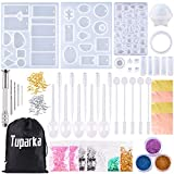 TUPARKA 165 PCS Silicone Casting Molds and Tools Set for DIY Jewelry Craft Making