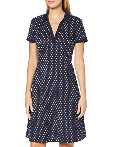 GANT Damen D1. Desert Jewel Print Pique Dress Kleid, Evening Blue, L