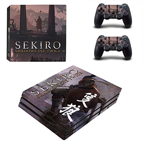 FENGLING Sekiro Shadows Die zweimal Ps4 Pro Skin Aufkleber für Playstation 4 Pro Konsole und Controller Ps4 Pro Aufkleber Aufkleber