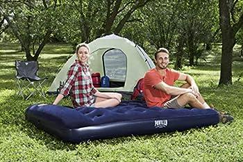 Bestway 67225 Matelas gonflable camping Pavillo? 2 places 191 x 137 x 22 cm avec pompe à pied intégrée