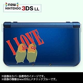new Nintendo 3DS LL 専用 カバー ケース ( ハード ) ニンテンドー インコ LOVE ラブ 透明 クリア