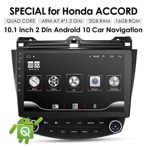 10,1 Zoll 16 GB Android 9.0 Auto Audio GPS Navigation für Honda Accord 7 2003–2007 Head Unit A/C Control 1080P Video Bluetooth Mirror Link