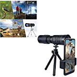 LNIBA 2020 Newest 4k 10-300x40mm Super Telephoto Zoom Monocular Telescope, Waterproof, Fogproof, HD, Easy Focus, Night Vision, Portable for Hunting, Camping, Travelling, Hiking (1pc+ Holder)