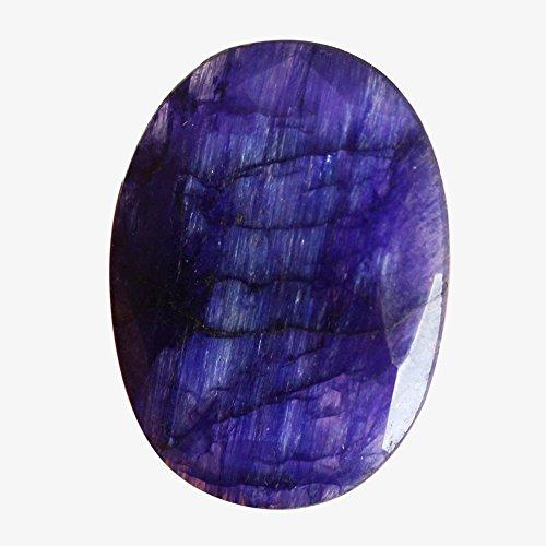 25 quilates se ven como cabujón de zafiro azul, forma ovalada, corte facetado, piedra preciosa para hacer joyas AG-5987