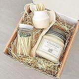 Candle & Match Striker Gift Set - Handmade, Small batch natural soy mason jar candle - 8 oz or 16 oz