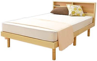 アイリスプラザ ベッド すのこ 棚付き ヘッドボード コンセント付き 2口 フレーム ナチュラル シングル SKSB-S