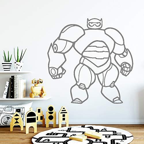 Klassische Cartoon Superheld roboter Vinyl Wandaufkleber Abnehmbare Kunst Wandtattoos Für Kindergarten Kinderzimmer Wohnkultur 57 * 57 cm