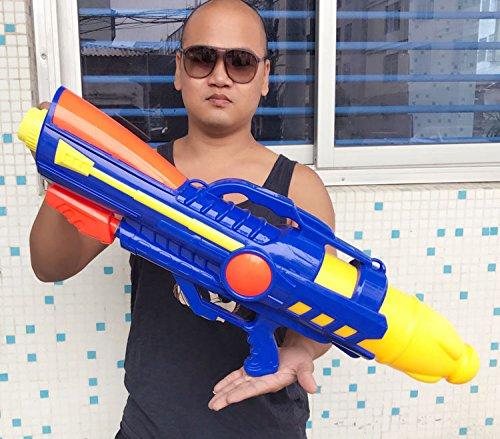 HA Pistola de Agua Inflable Pistola de Aire Grande 80Cm Pistola de Presión de Agua,Azul