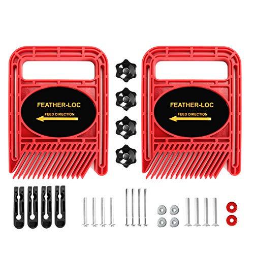 Popcornon Tablas de Plumas Extendidas Multiusos/Ajustable Conjunto de Tablero de Locomotoras de Plumas para Sierras de Mesa Sierras de Cinta Herramientas para Trabajar la Madera Rojo