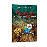 Póster de Hora de aventuras de Finn y Jake Canvas Art Poster Picture Modern Office Family Bedroom Decorative Posters Gift Wall Decor Poster Painting Posters