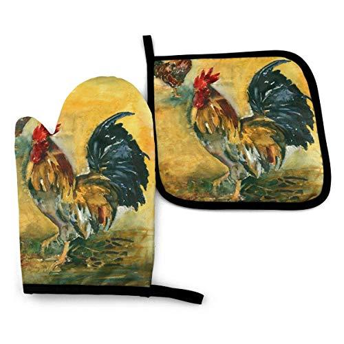 Royal Legacy Farm Roosters, Manoplas para Horno y Porta ollas para Pintura...
