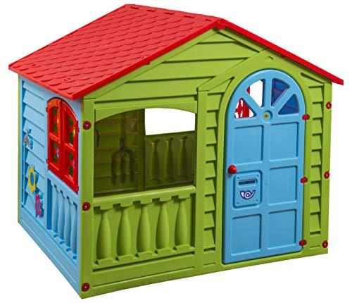 PalPlay Colorful Fun House, Medium, Green/Red/Blue