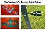 Cerca de alambre tensor - (, 4 unidades - Natural) - tipo trinquete galvanizas verde o Natural